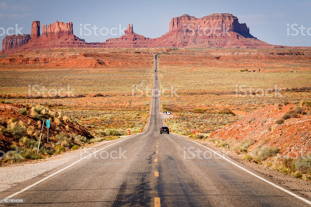 Monument Valley Mile Marker 13 Forrest Gump Point stock photo