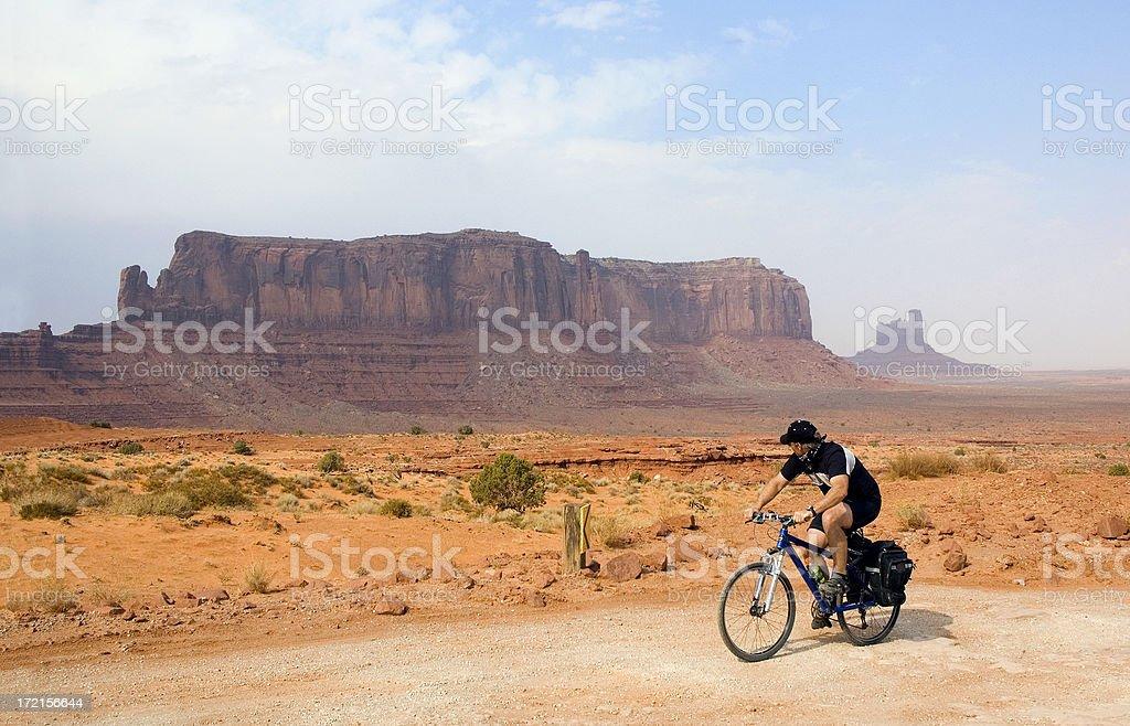 Monument Valley Mountain Biking royalty-free stock photo