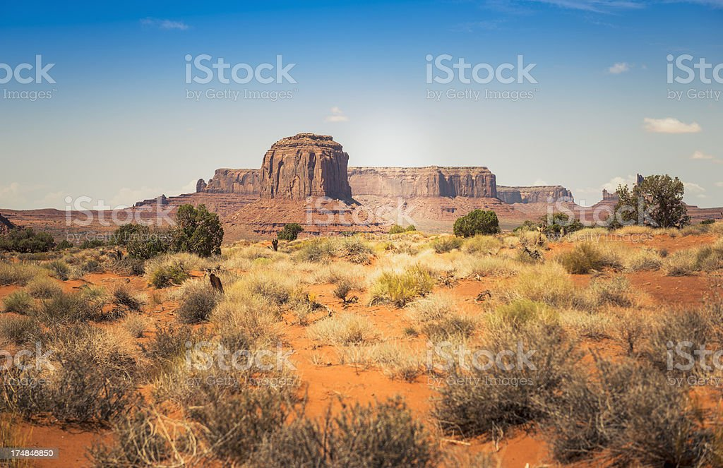 Monument valley National park desert stock photo