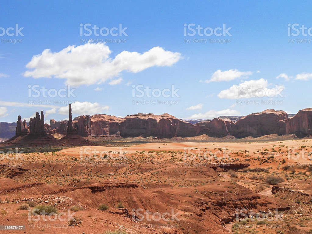 Monument valley national park landscape royalty-free stock photo