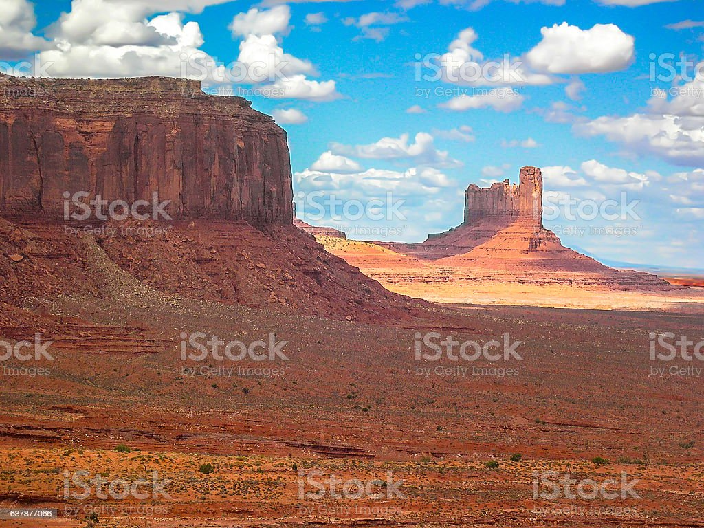 Monument Valley, Navajo tribal park, Arizona & Utah, U.S.A. stock photo