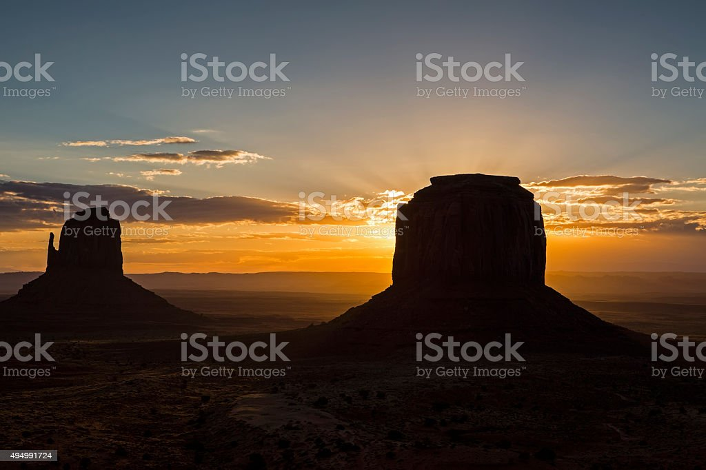 Monument Valley - Navajo Tribal Park stock photo