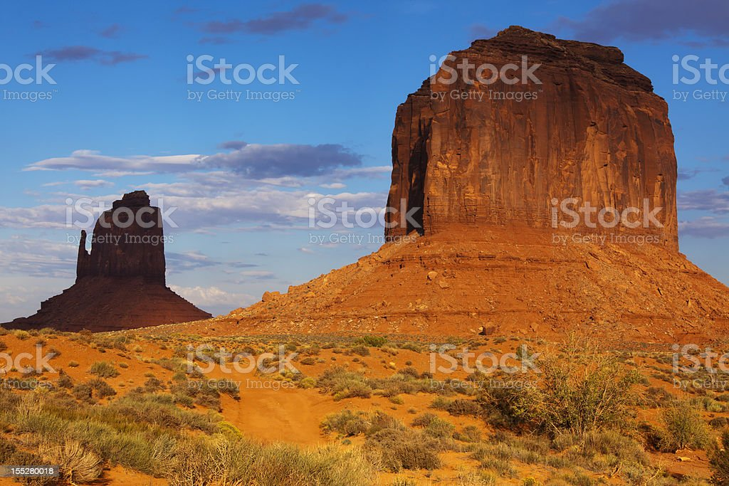 Monument valley, Navajo Tribal Park, Utah-Arizona royalty-free stock photo