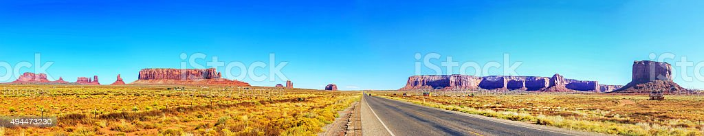 Monument Valley outer view stock photo