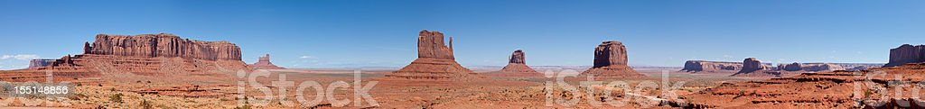Monument Valley Panorama, Arizona stock photo