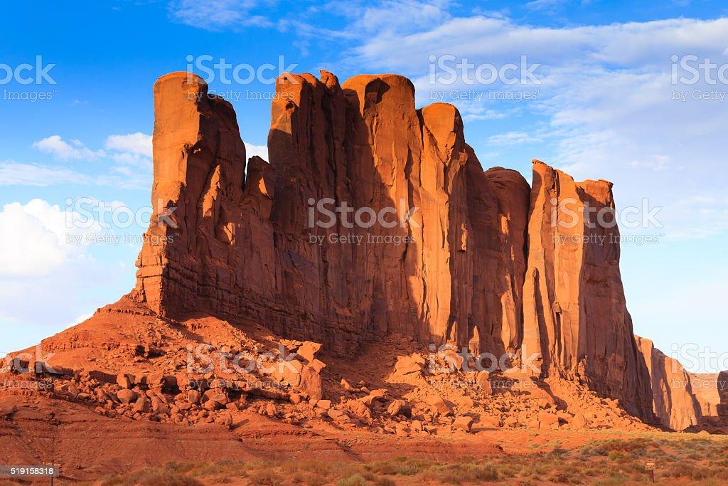 Monument Valley panorama, Arizona USA stock photo