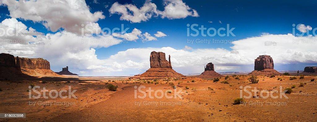Monument Valley Panorama stock photo