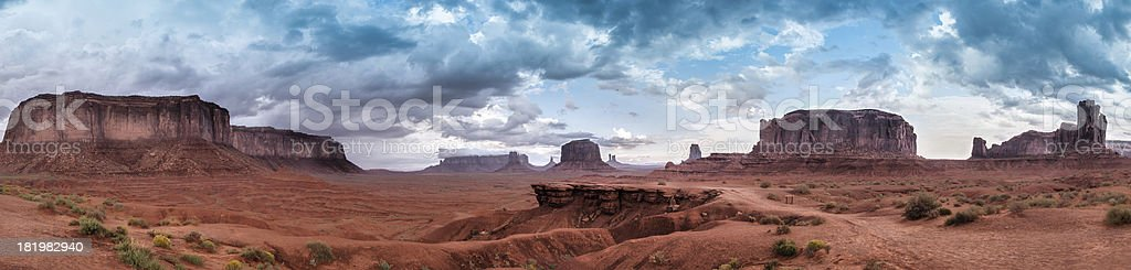 Monument Valley Panorama Skyline stock photo