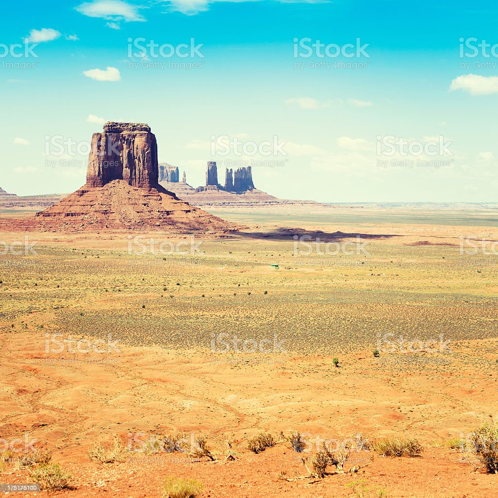 Monument Valley panorama - tribal navajo National park stock photo