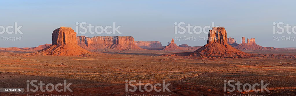 Monument Valley (Artist's Point) Panoramic stock photo