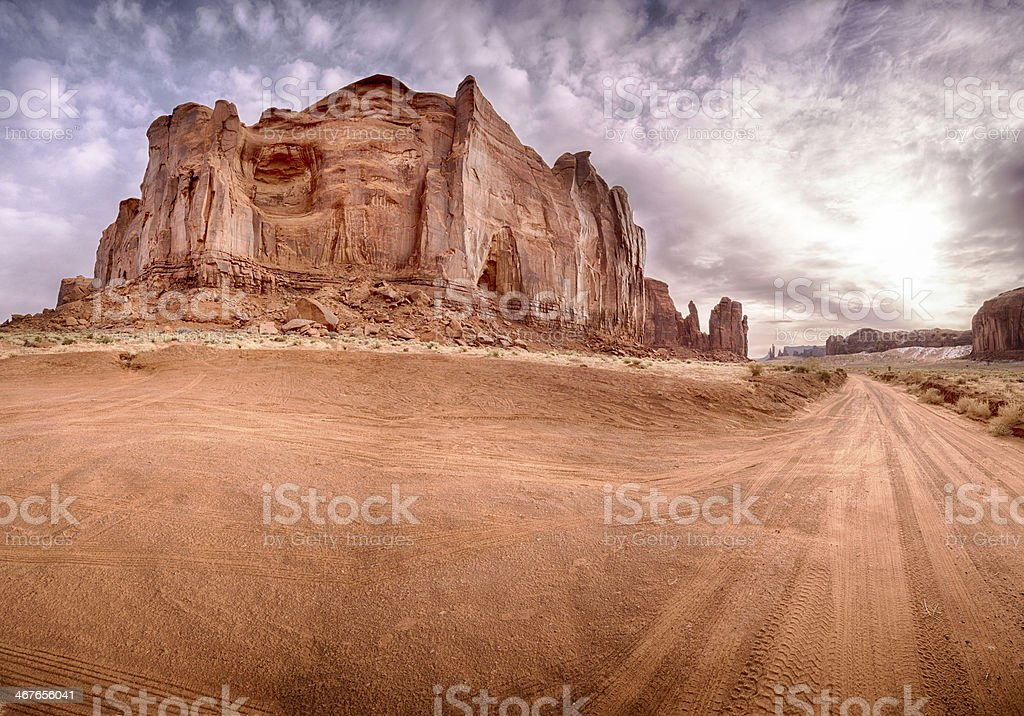 Monument Valley Panoramic royalty-free stock photo