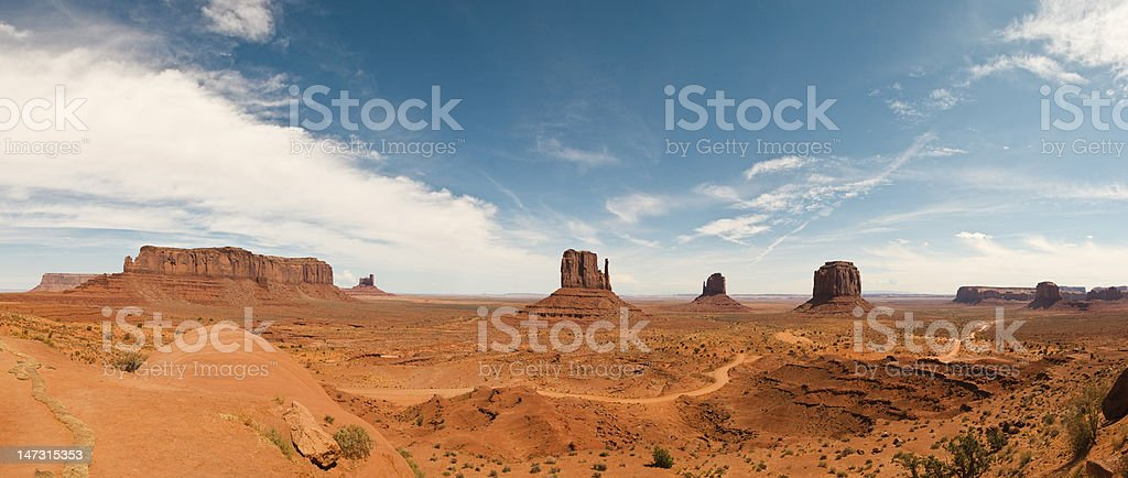 Monument Valley panoramic view royalty-free stock photo