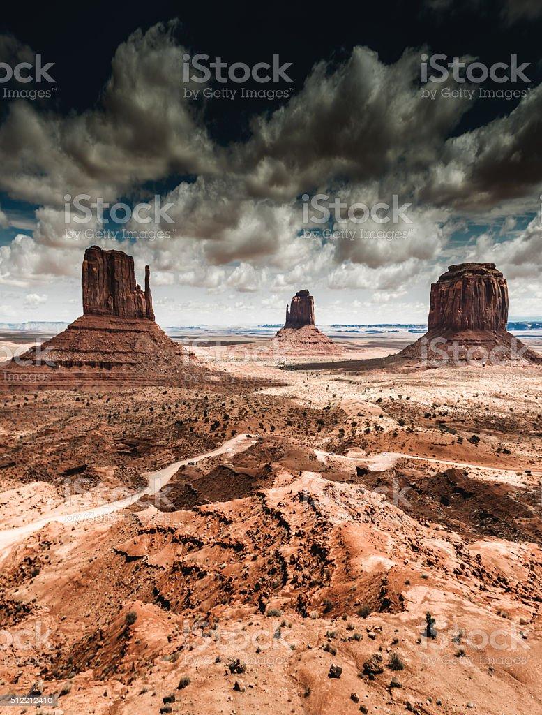 Monument valley panoramic view stock photo