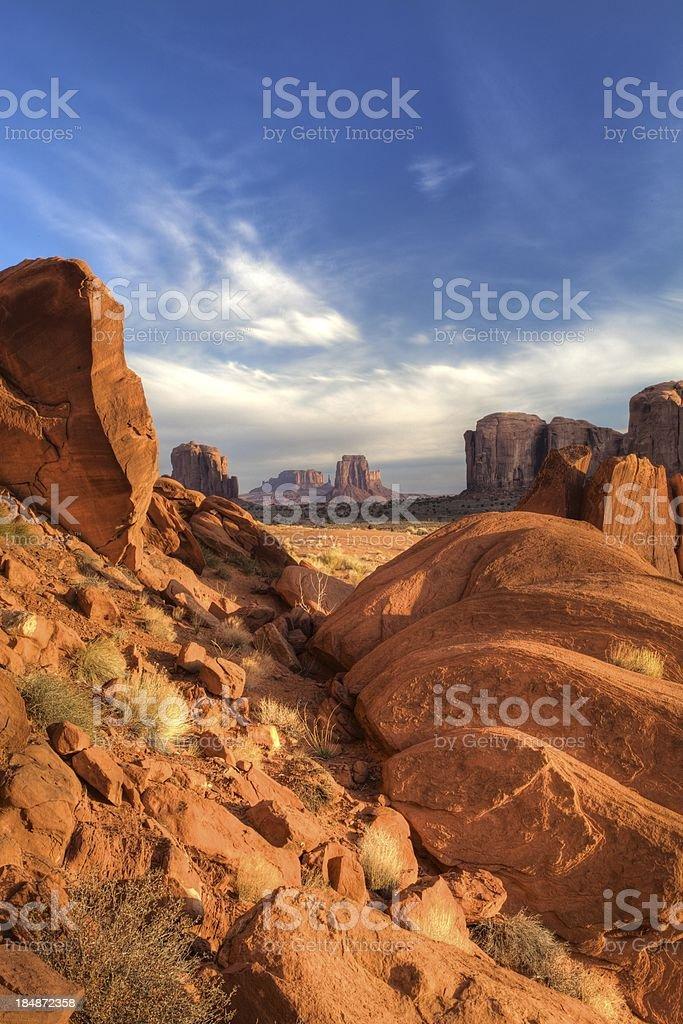 Ritratto di Monument Valley foto stock royalty-free