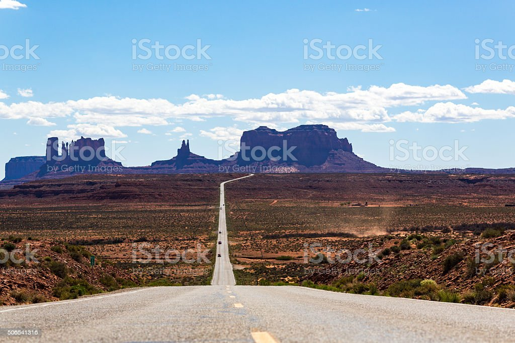 Monument Valley road, Route 163 stock photo