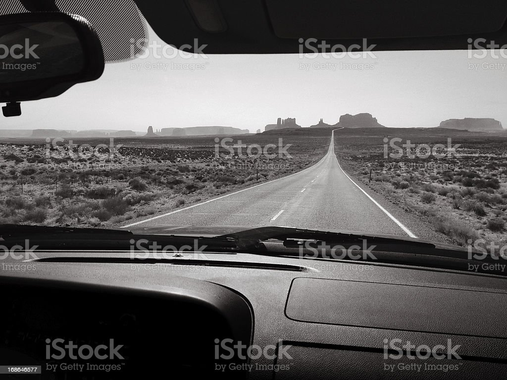 Monument Valley Road Trip royalty-free stock photo