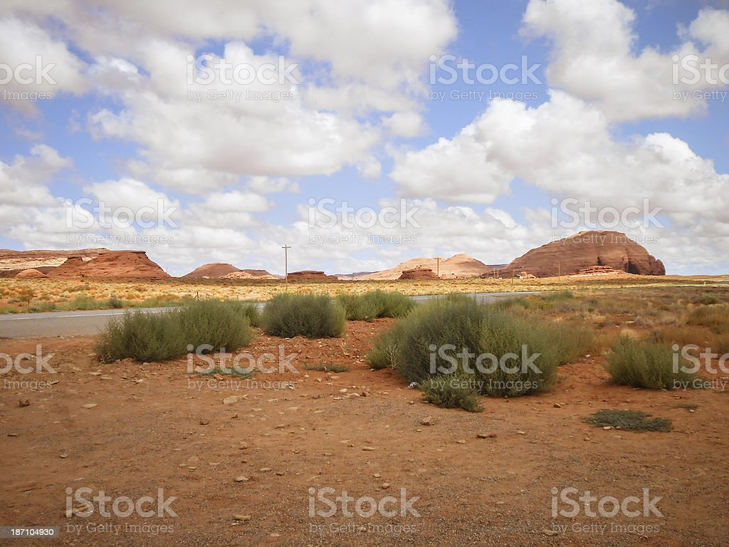 Monument valley rock butte royalty-free stock photo