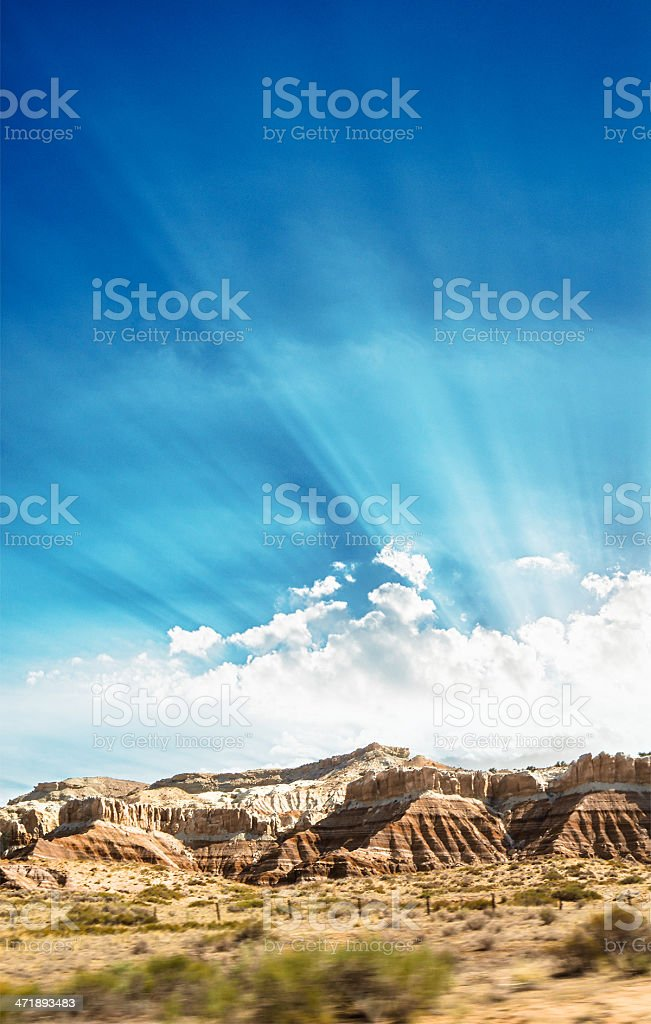 Monument valley rock formation landscape royalty-free stock photo