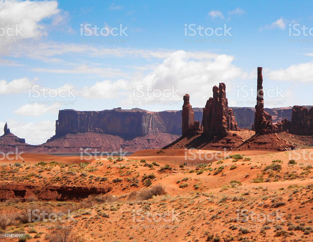 Monument valley rock formation royalty-free stock photo