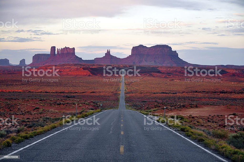 Monument Valley Route royalty-free stock photo