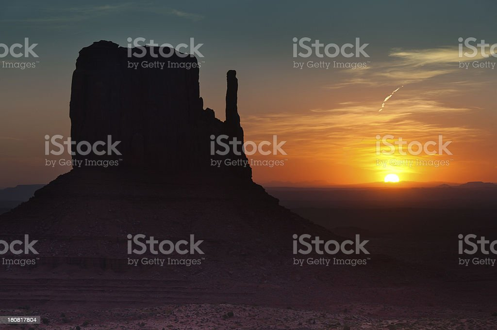 Monument Valley Southwest American Landscape at Sunrise royalty-free stock photo