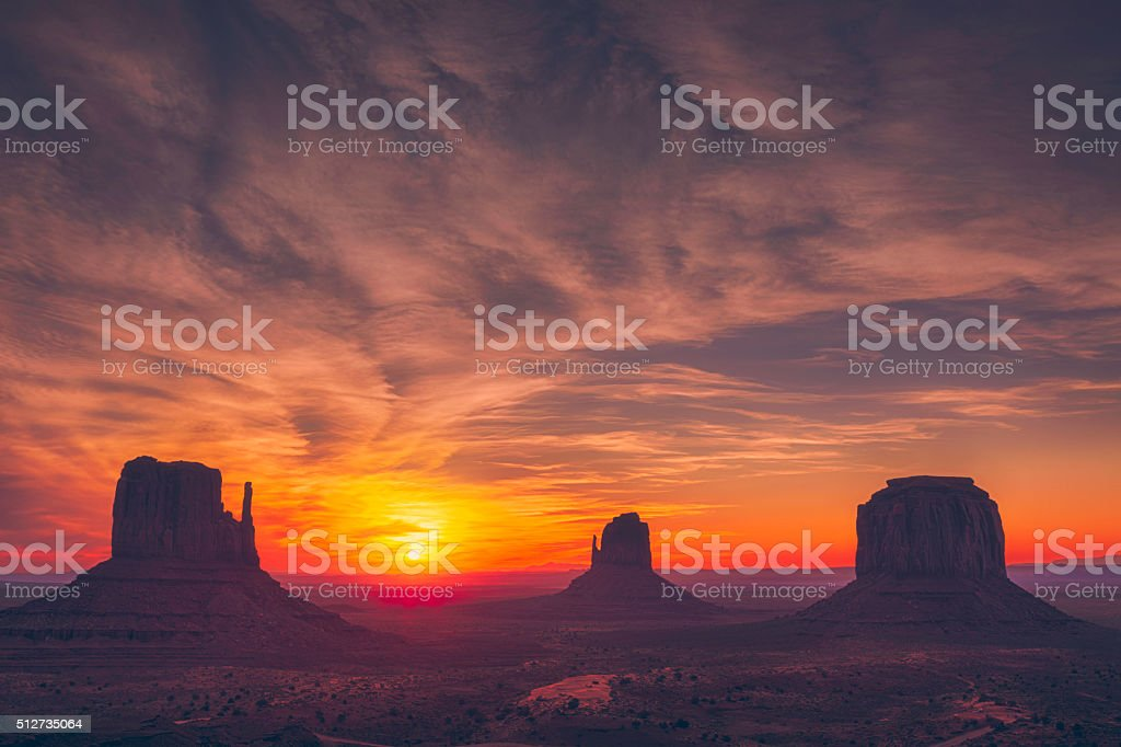 Monument Valley sunrise stock photo