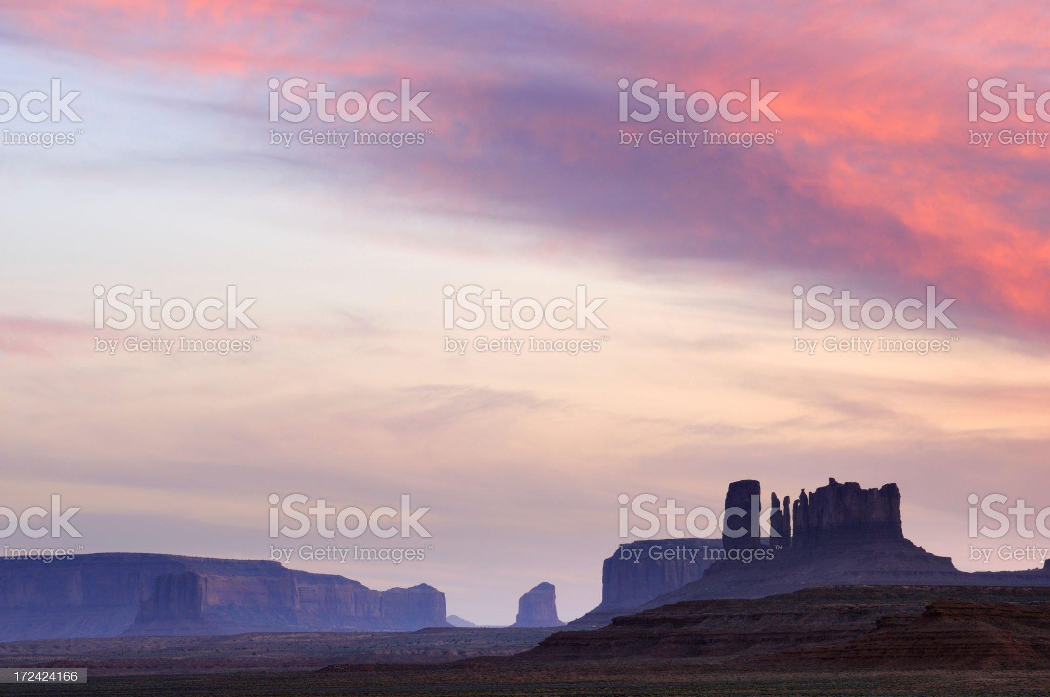 Monument Valley sunset landscape, Utah, Arizona, USA royalty-free stock photo