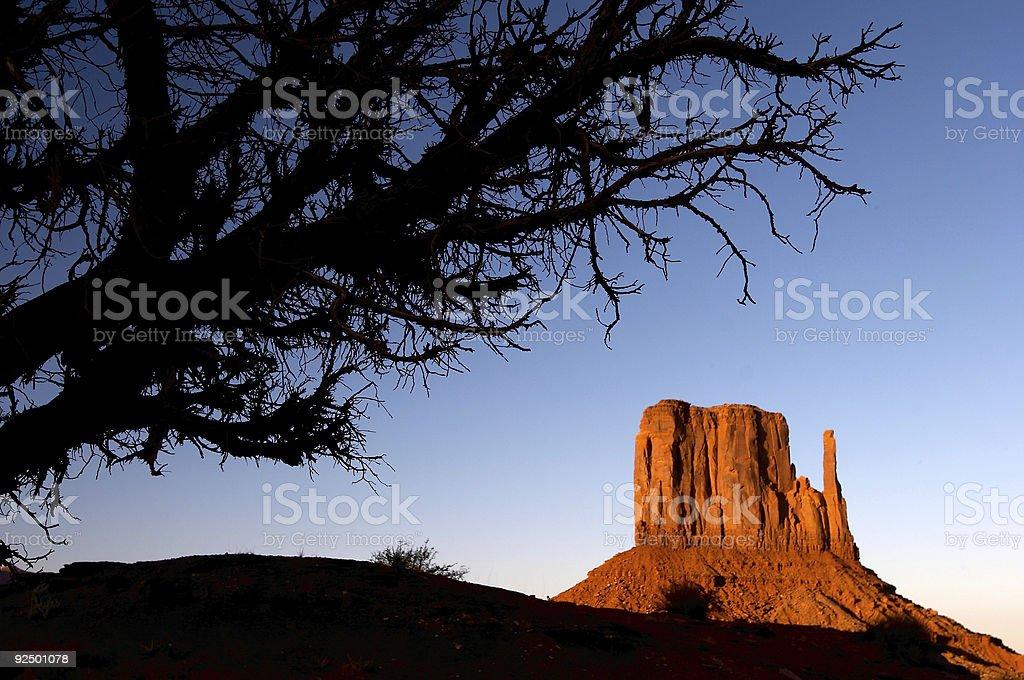 Monument Valley sunset stock photo
