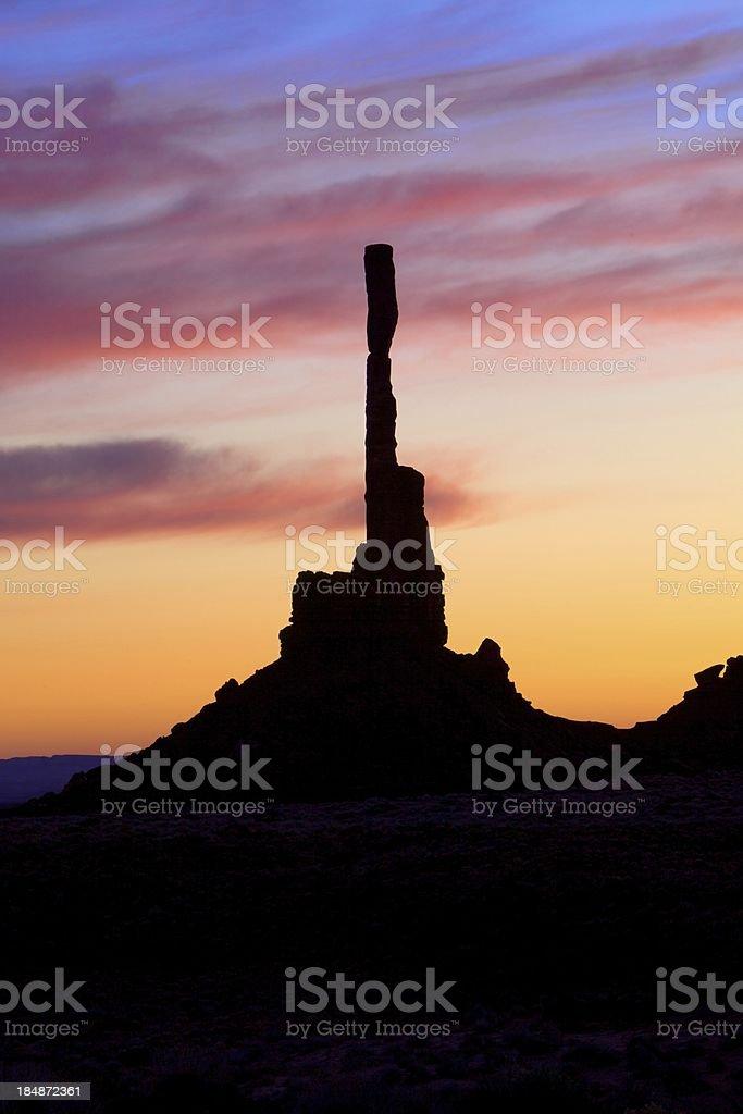 Monument Valley di qualsiasi all'alba foto stock royalty-free