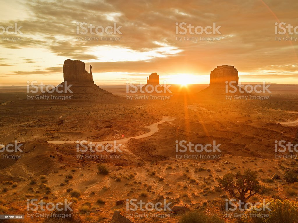 Monument Valley Tribal Park stock photo