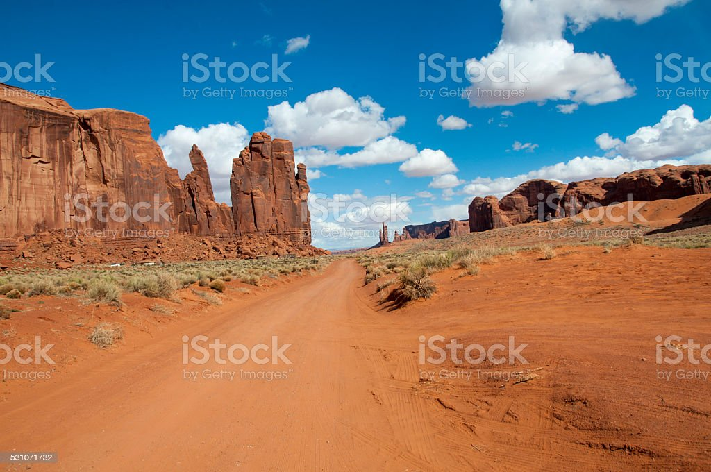 monument valley, USA, country road stock photo