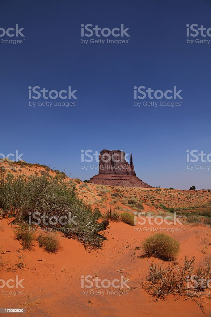 Monument Valley West Mitten royalty-free stock photo