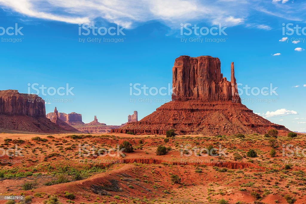 Monument Valley West Thumb, Arizona stock photo