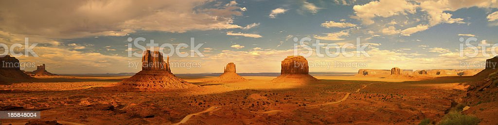 Monument Valley XXXL Panorama stock photo