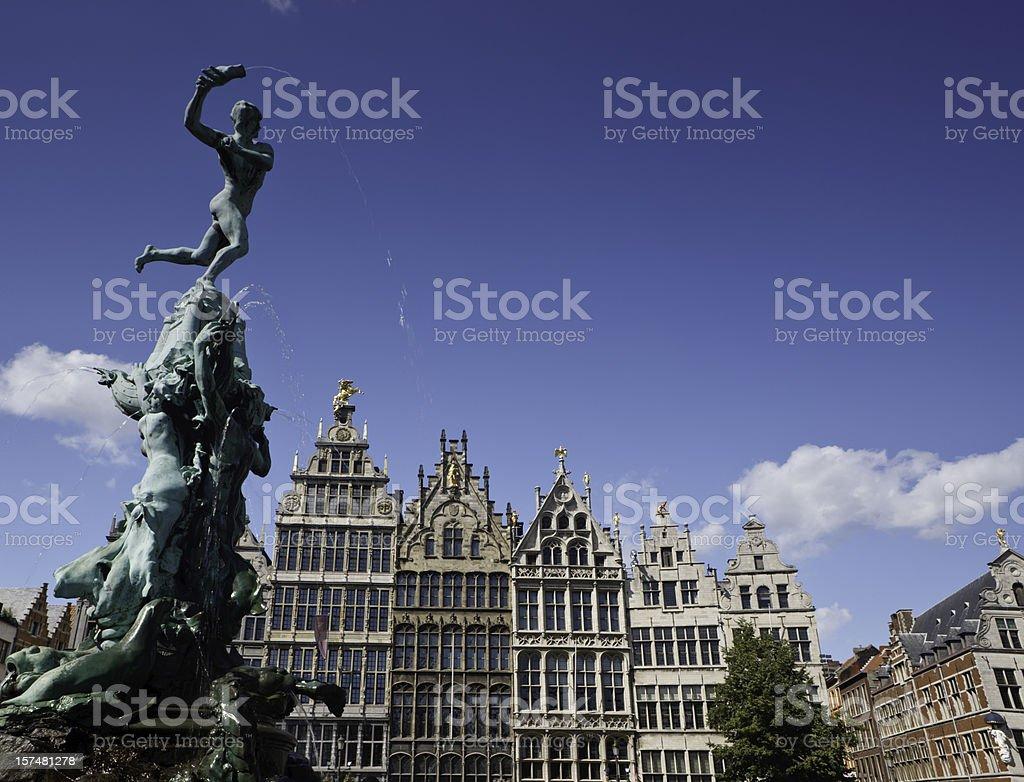 Monumental Antwerp stock photo