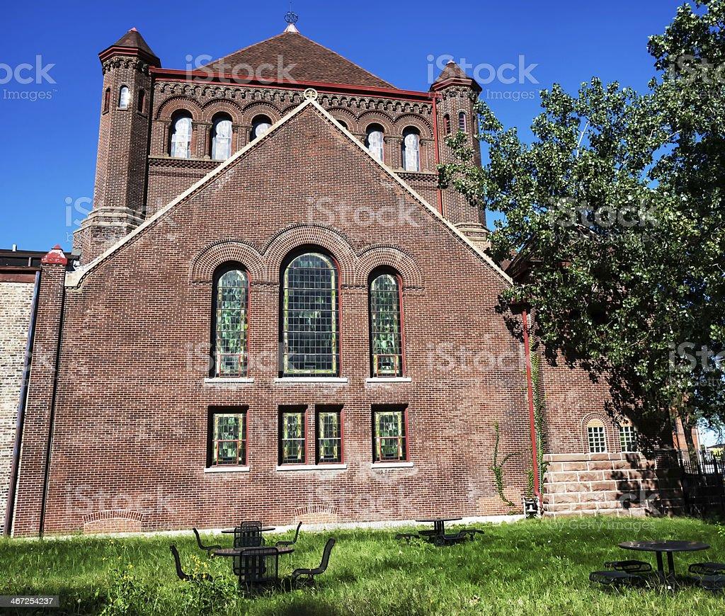 Monumental Baptist Church in Grand Boulevard, Chicago stock photo