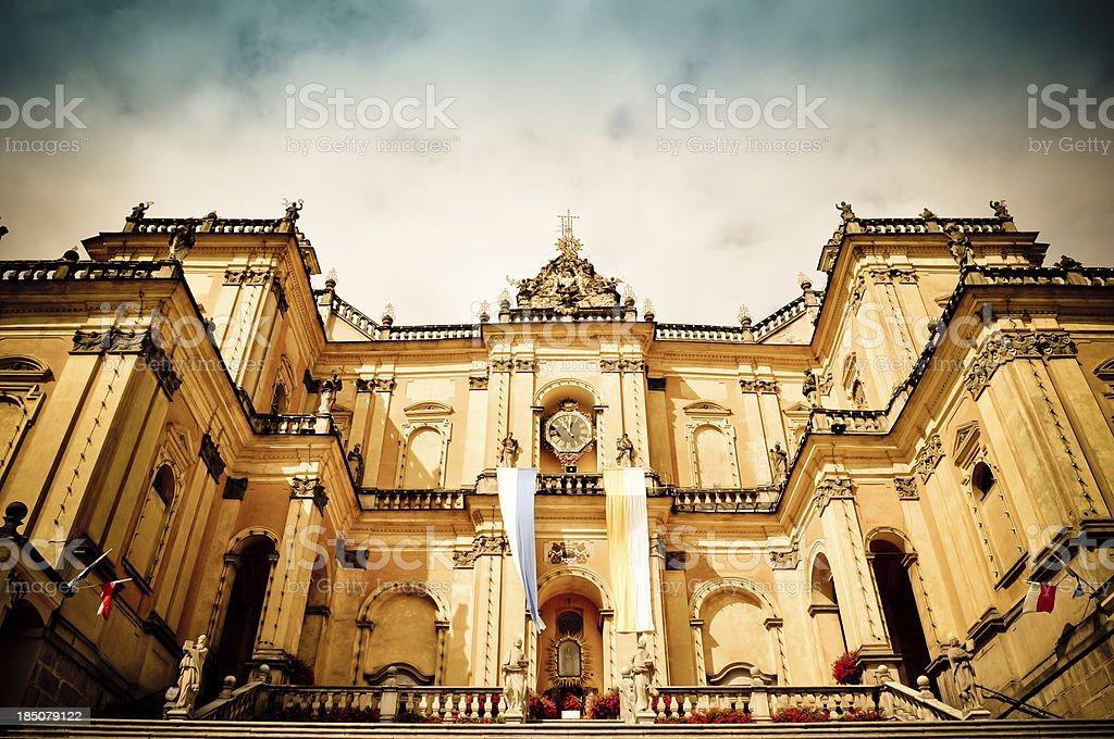 Monumental barocke Basilika in Wambierzyce, Polen Lizenzfreies stock-foto