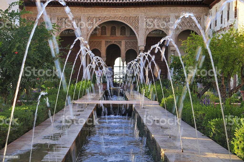 Monumental complex of the Alhambra. Generalife. Granada, Andalucia, Spain royalty-free stock photo