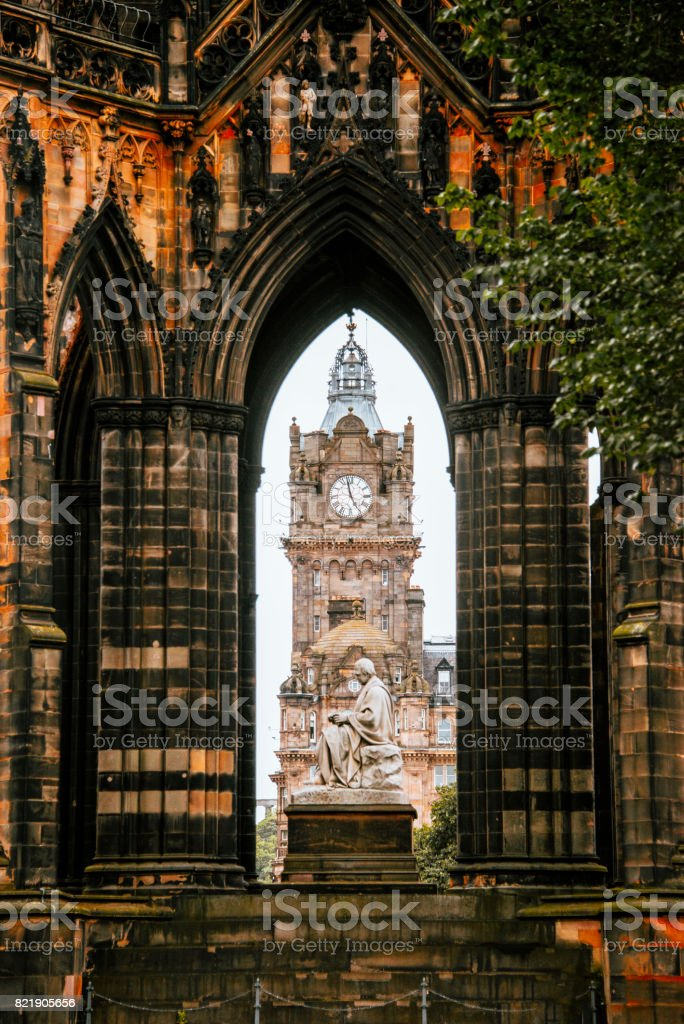Monumental Edinburgh stock photo