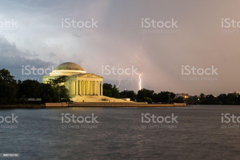Monumental Lightning stock photo