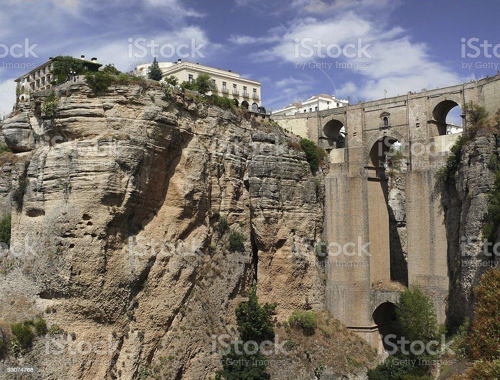 Monumental Puente Nuevo in Ronda royalty-free stock photo