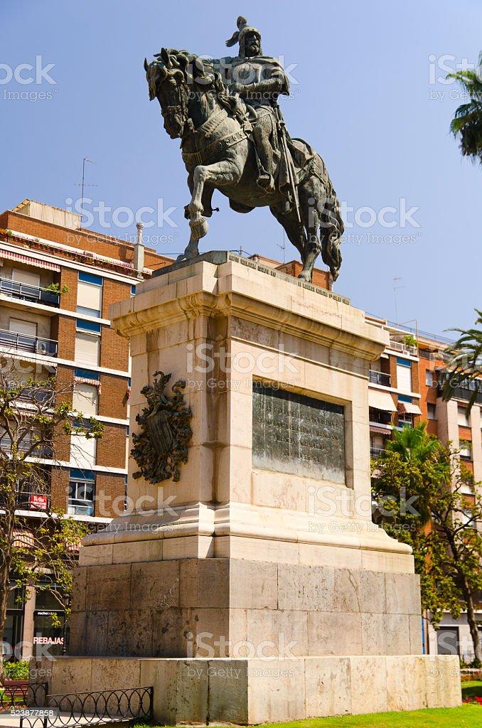 Monumento a Jaime I de Aragon, el Conquistador stock photo