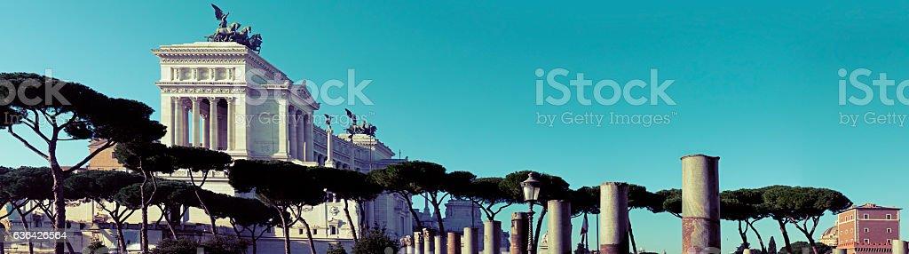 Monumento nazionale a Vittorio Emanuele II  a Roma stock photo