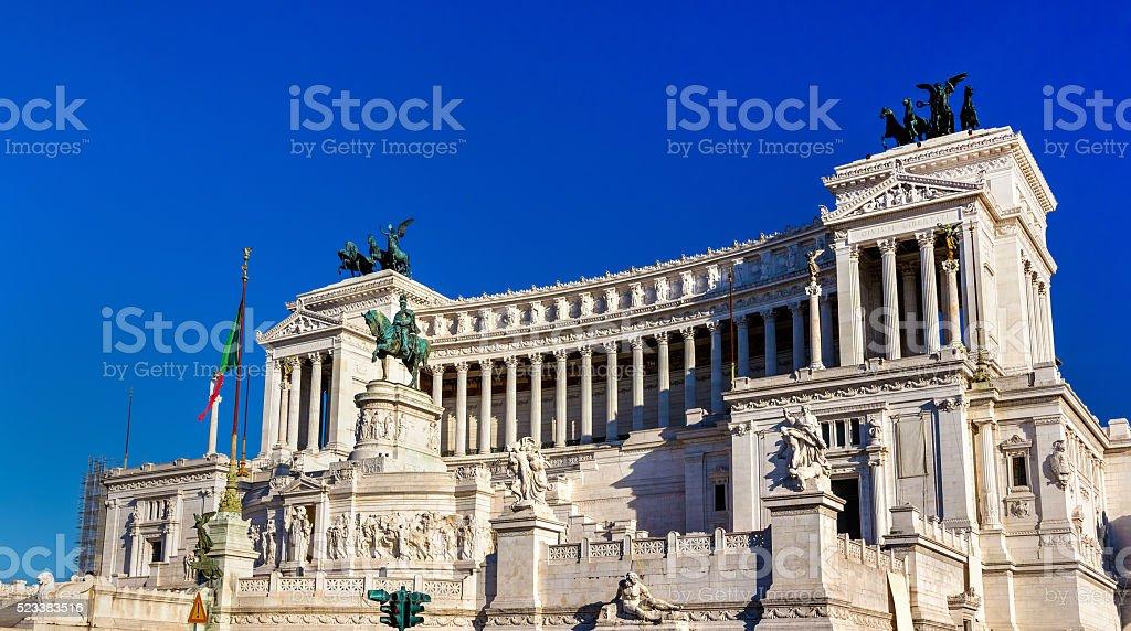 Monumento Nazionale a Vittorio Emanuele II in Rome stock photo