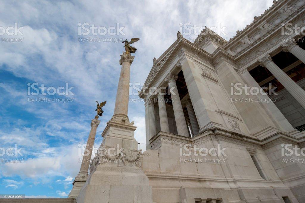 Monumento Nazionale a Vittorio Emanuele II or Altare della Patria (Altar of the Fatherland), Rome, Italy. stock photo