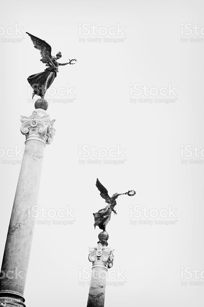 monuments in Rome royalty-free stock photo