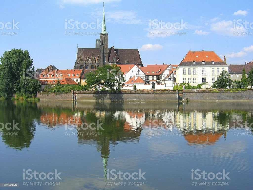 Monuments in Wroclaw 2 royalty-free stock photo