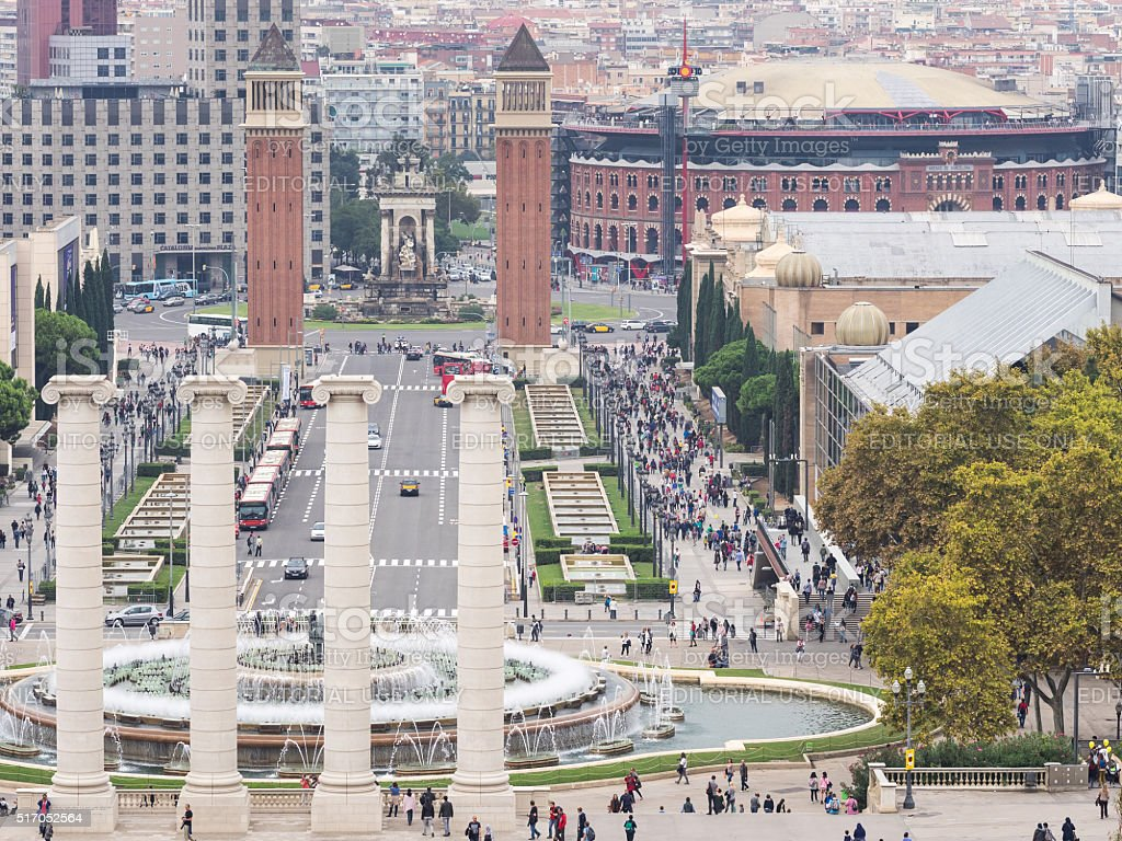 Monuments of Barcelona stock photo