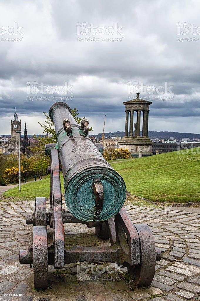 monuments on Calton Hill stock photo