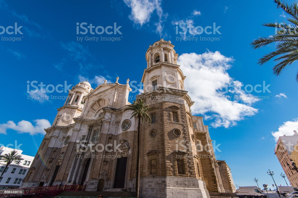 monuments,landmarks and architecture on streets of Cadiz,Spain stock photo